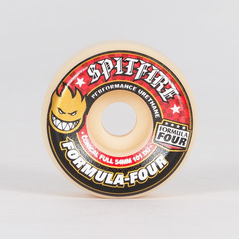 Spitfire Formula Four Conical 101a Wheels White/Red 54mm - Skateboard