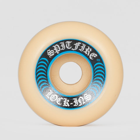 Spitfire Formula Four Lock-Ins 99a Wheels White/Blue 55mm - Skateboard