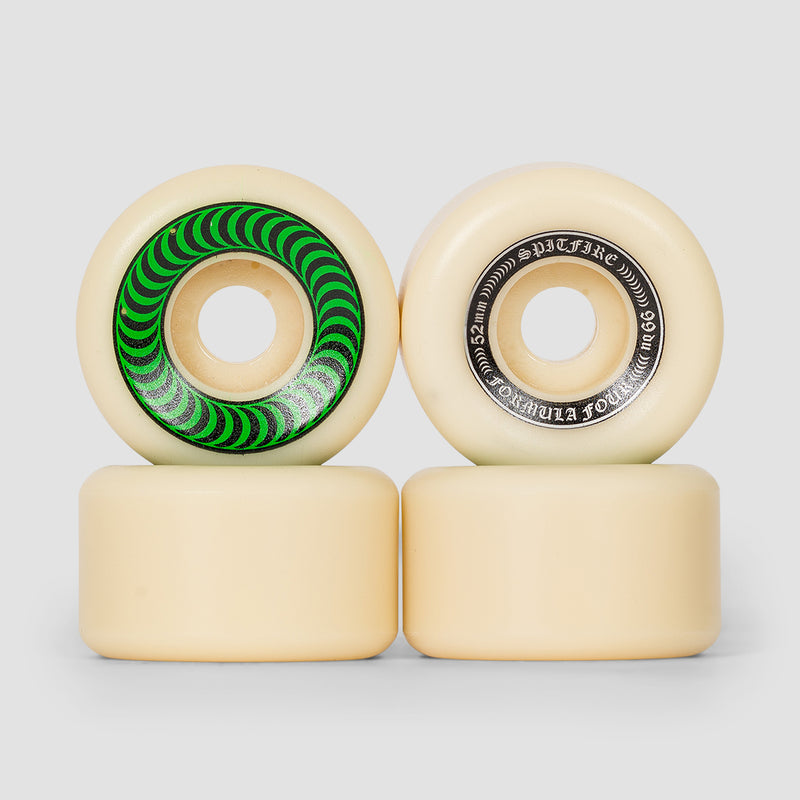 Spitfire Formula Four OG Classic 99a Wheels Natural/Green 52mm