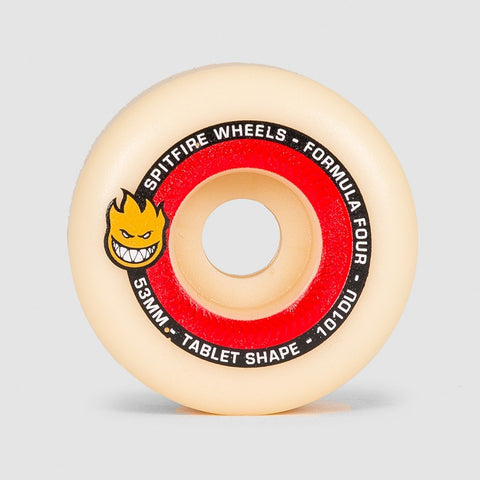 Spitfire Formula Four Tablets 101DU Wheels Natural/Red 53mm - Skateboard
