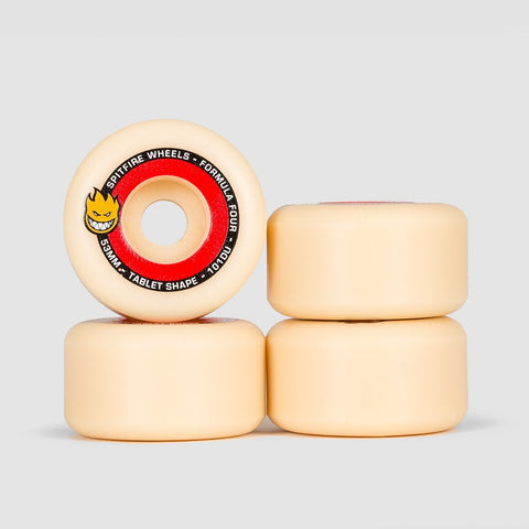 Spitfire Formula Four Tablets 101DU Wheels Natural/Red 53mm