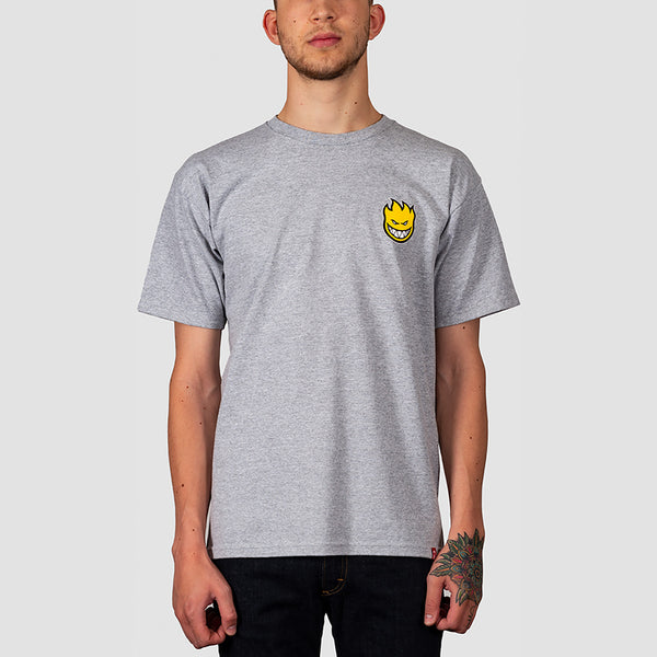 Spitfire Lil Bighead Fill Tee Athletic Heather/Yellow