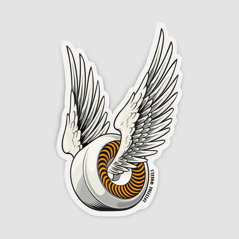 Spitfire OG Classic Sticker White/Orange 150x95mm