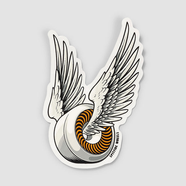 Spitfire OG Classic Sticker White/Orange 95mm x 55mm - Skateboard