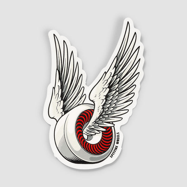 Spitfire OG Classic Sticker White/Red 95mm x 55mm - Skateboard