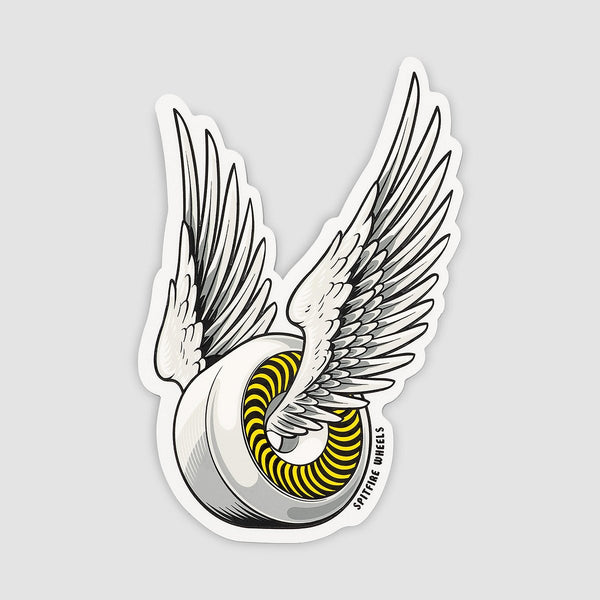 Spitfire OG Classic Sticker White/Yellow 150mm x 95mm - Skateboard