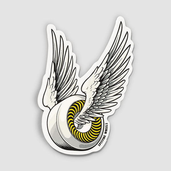 Spitfire OG Classic Sticker White/Yellow 95mm x 55mm - Skateboard