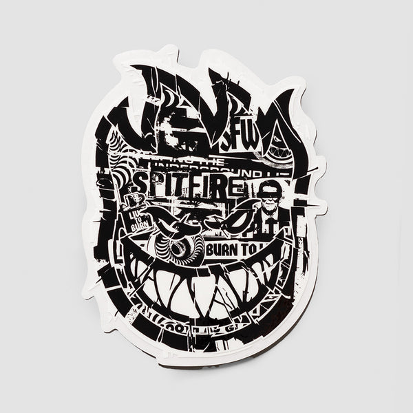 Spitfire Ransom Bighead Medium Sticker Black/White 130x100mm