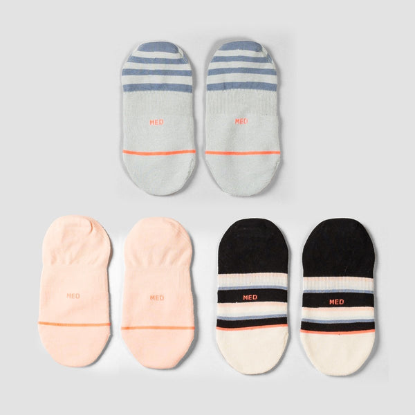 Stance Back To Basic 3 Pack Socks Multi - Womens - Accessories