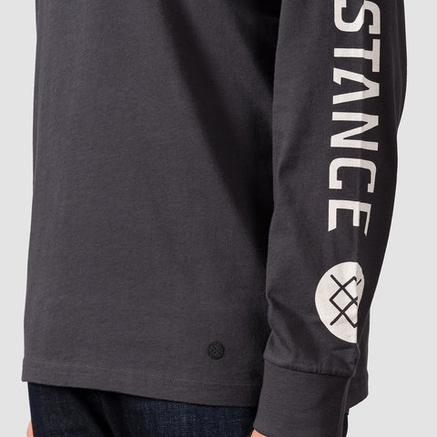 Stance Basis Longsleeve Tee Black Fade - Clothing