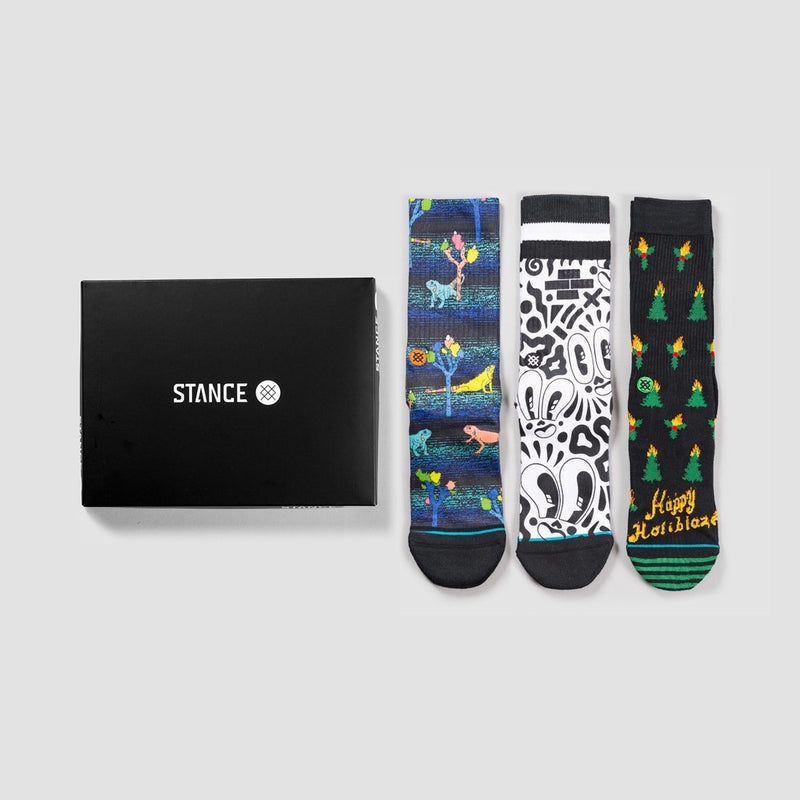 Stance Foundation 1 Socks 3 Pack Box Set Various - Accessories