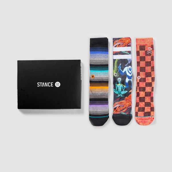 Stance Foundation 2 Socks 3 Pack Box Set Various - Accessories