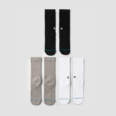 Stance Icon 3 Pack Socks Multi