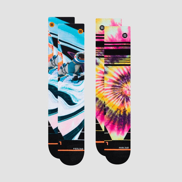 Stance Mountain 2 Pack Snowboard Socks Multi - Womens - Snowboard