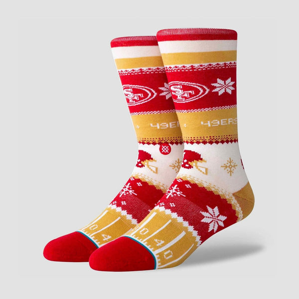 Stance NFL - 49ers Holiday Sweater Socks Red - Accessories