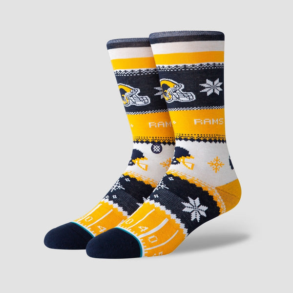 Stance NFL - Rams Holiday Sweater Socks Yellow - Accessories