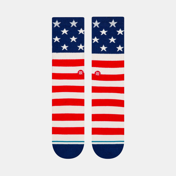 Stance The Fourth Staple Crew Socks Red