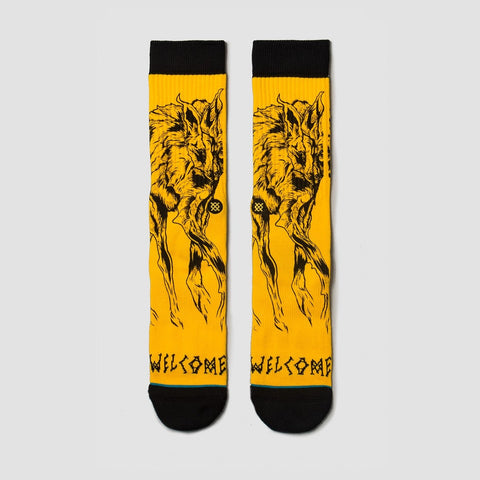 Stance X Welcome Wolves Socks Black