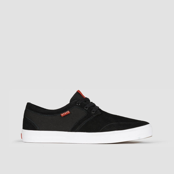 State Bishop Black/White Suede - Footwear
