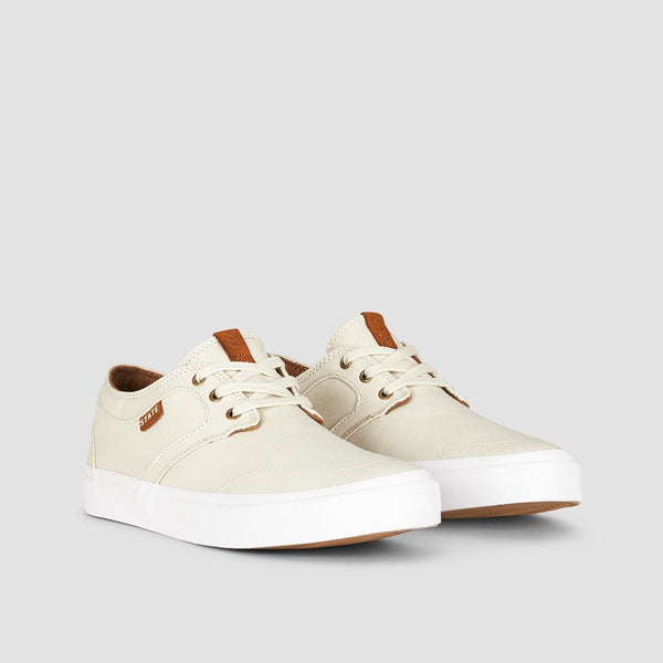 State Bishop Cream/White Canvas - Footwear