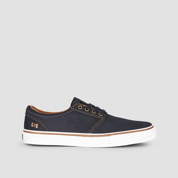 State Elgin Navy/White Suede - Footwear