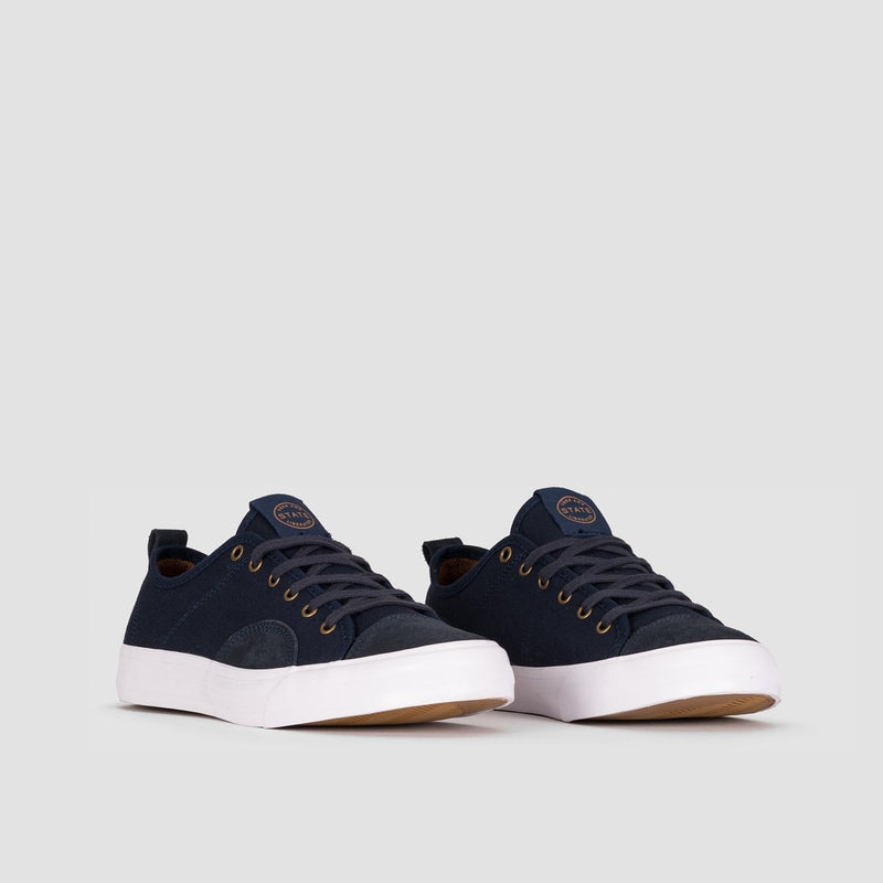 State Harlem Navy/White Canvas/Suede - Footwear