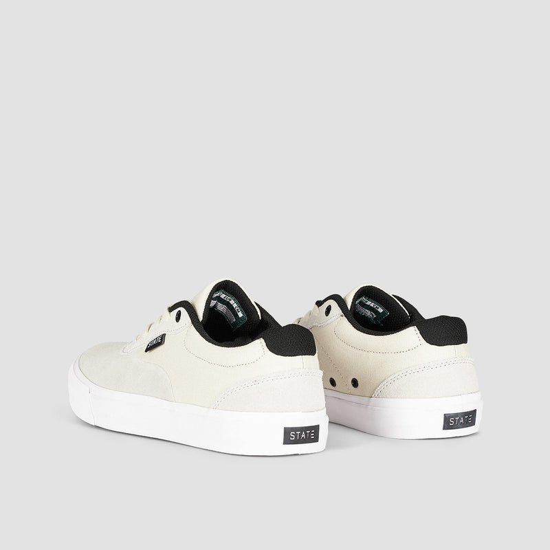 State Madison Cream/Black Suede - Footwear