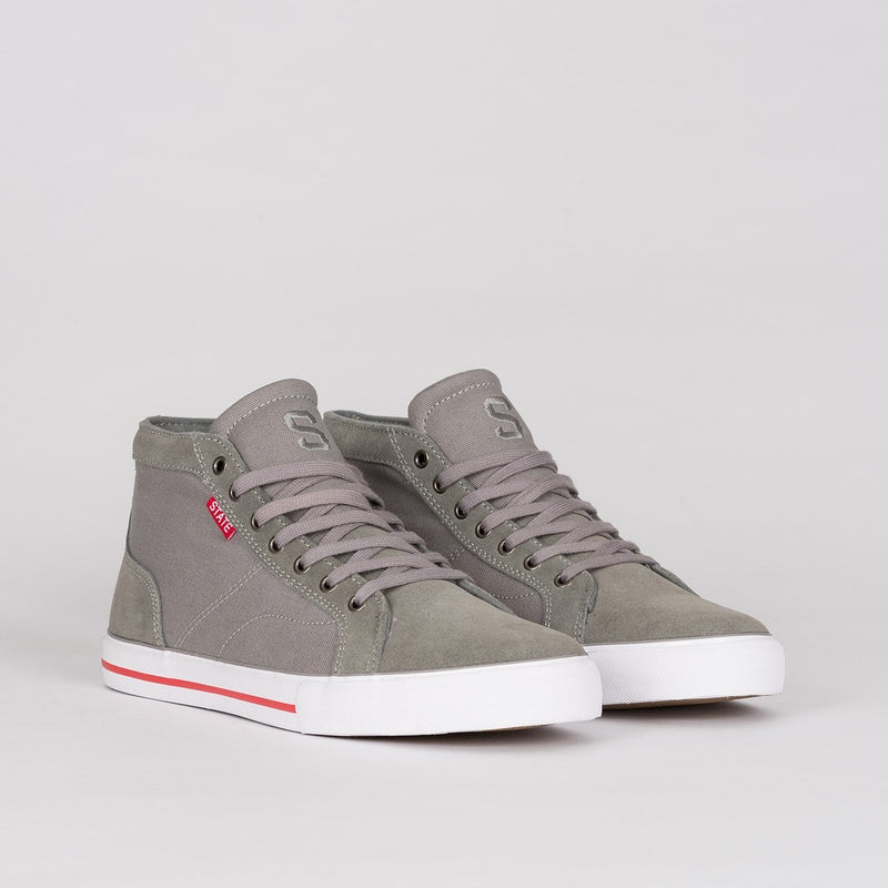 State Salem Grey/White/Red - Footwear