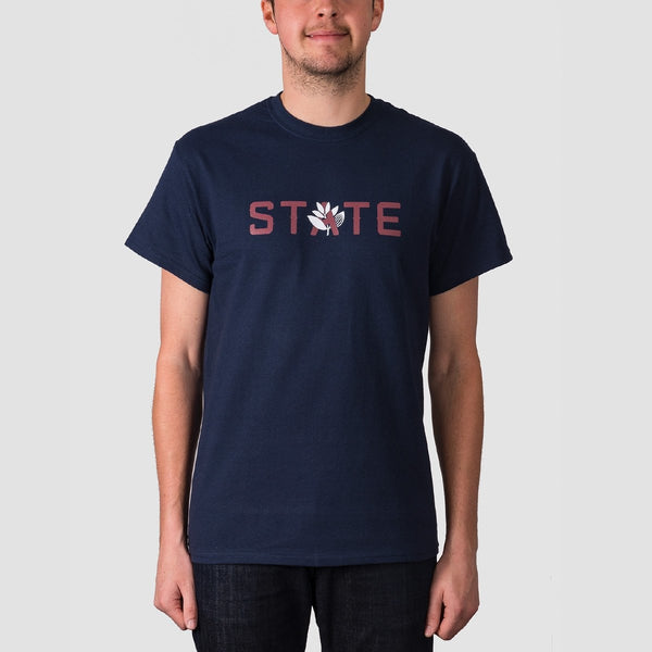 State X Magenta Tee Navy - Clothing