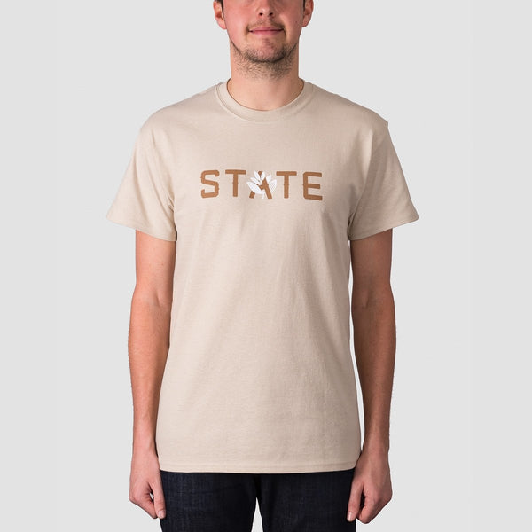 State X Magenta Tee Sand - Clothing