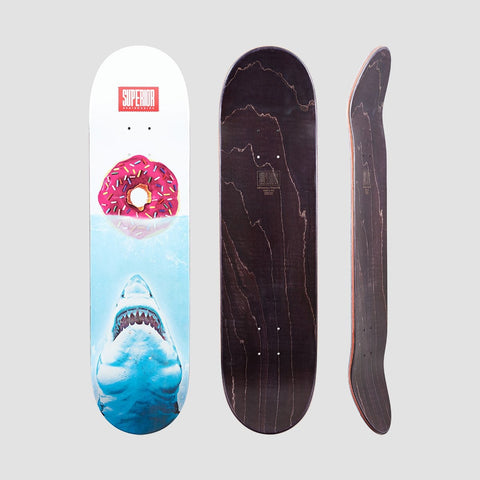 Superior Jaws Donut Deck White/Blue - 8.125 - Skateboard