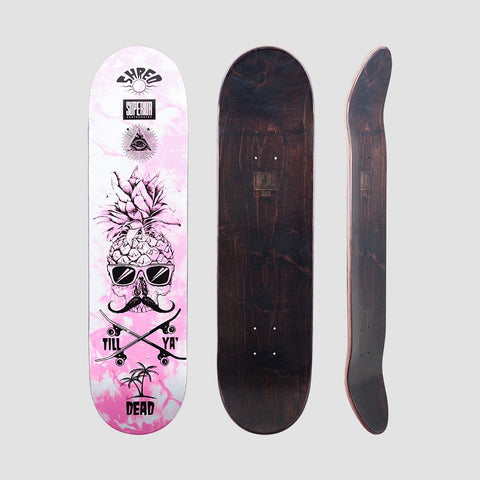 Superior Pineapple Shred Deck Pink - 8 - Skateboard