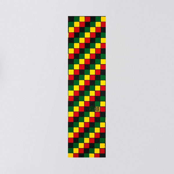 Superior Rasta Check Griptape Sheet Rasta Black - 9 - Skateboard