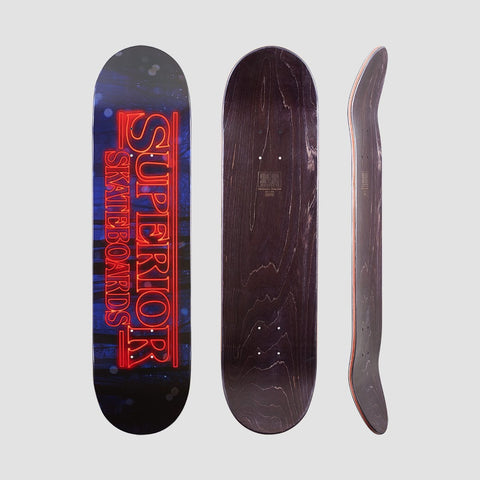 Superior Stranger Boards Deck Black/Red - 8 - Skateboard