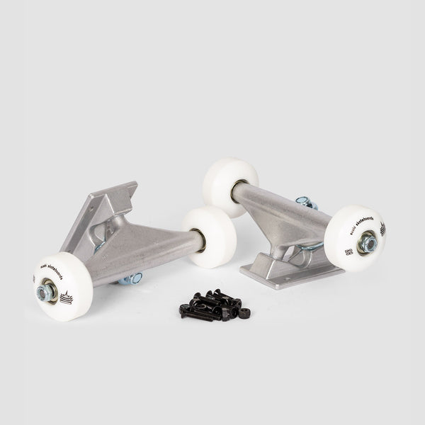 Sushi 5.25 Undercarriage Kit 52mm White Wheels Silver - 8""