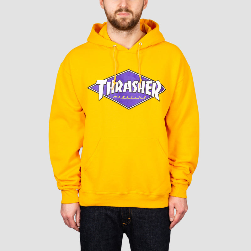 Thrasher Diamond Logo Pullover Hood Gold