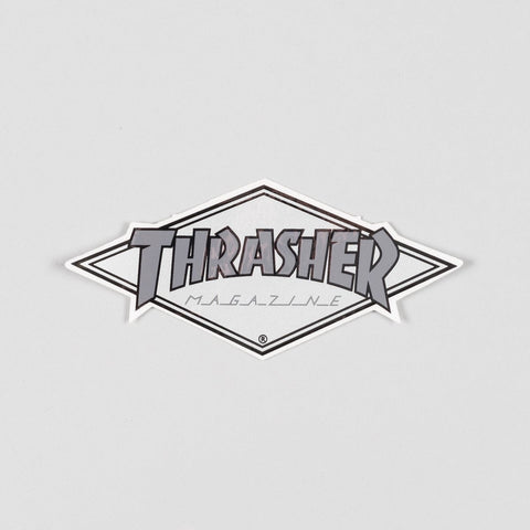 Thrasher Diamond Logo Sticker Silver/Grey 110x45mm