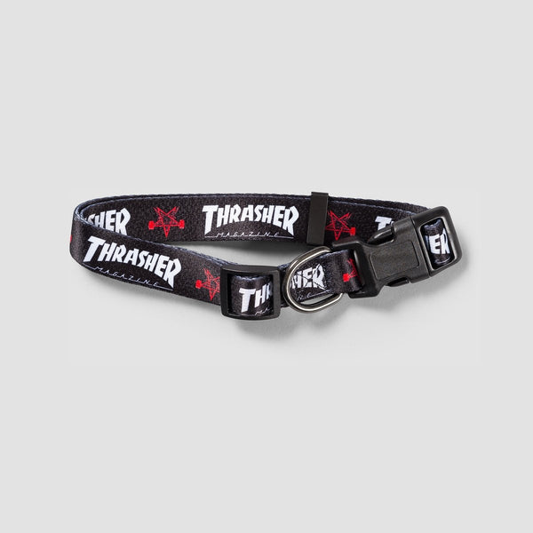 Thrasher Dog Collar Black 1 - Accessories