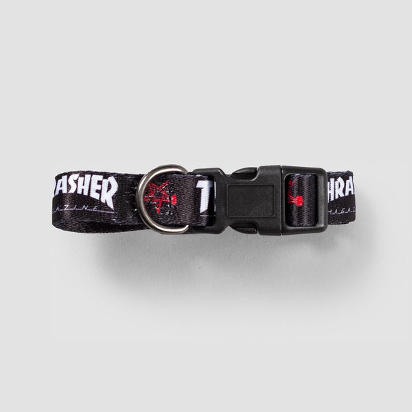 Thrasher Dog Collar Black 3/4 - Accessories