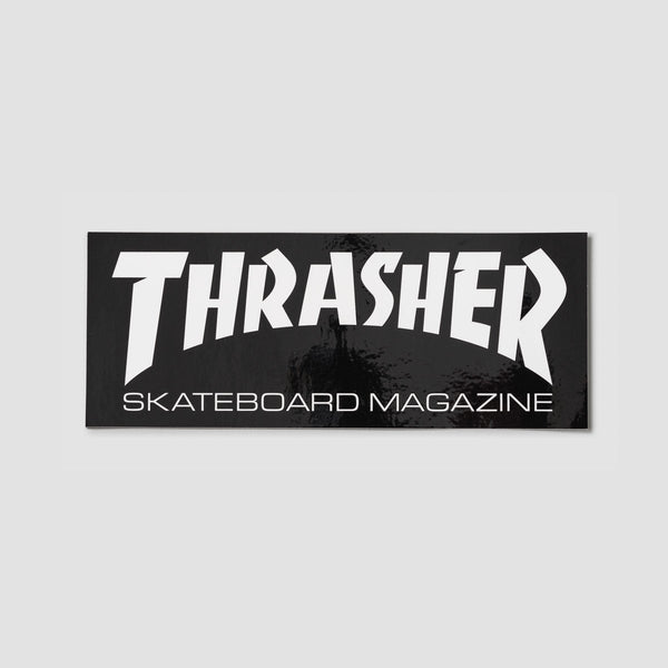 Thrasher Large Skate Mag Logo Sticker Black/White - Skateboard