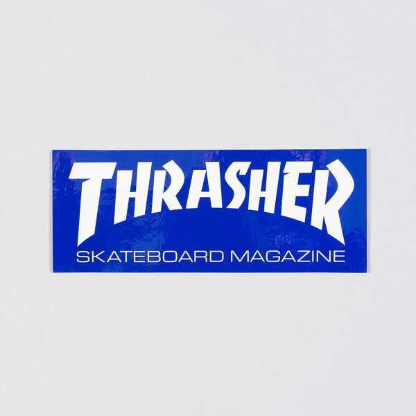 Thrasher Large Skate Mag Logo Sticker Navy Blue/White - Skateboard