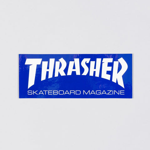 Thrasher Large Skate Mag Logo Sticker Navy Blue/White
