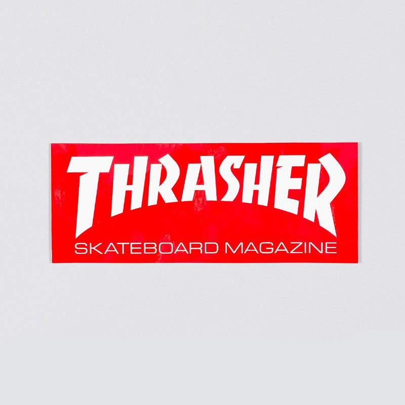 Thrasher Large Skate Mag Logo Sticker Red/White - Skateboard