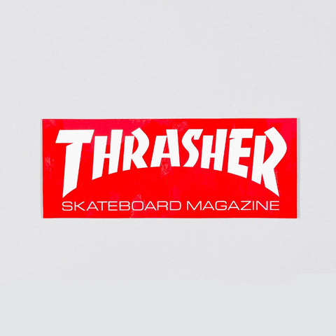 Thrasher Large Skate Mag Logo Sticker Red/White