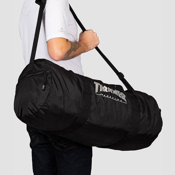 Thrasher Logo Duffel Bag Black