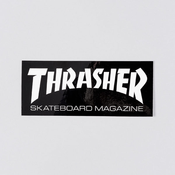 Thrasher Medium Skate Mag Sticker Black/White - Skateboard