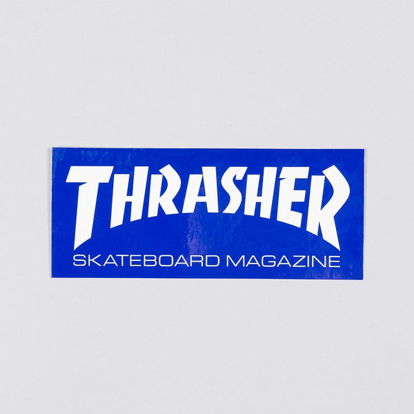 Thrasher Medium Skate Mag Sticker Navy Blue/White - Skateboard