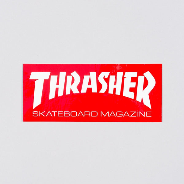 Thrasher Medium Skate Mag Sticker Red/White - Skateboard