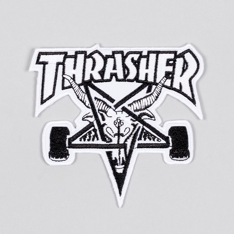 Thrasher Sk8 Goat Patch White/Black - Accessories