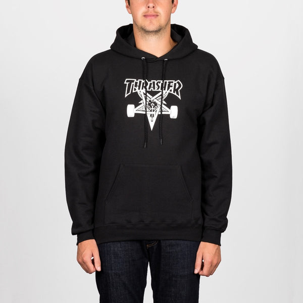 Thrasher SK8 Goat Pullover Hood Black - Clothing